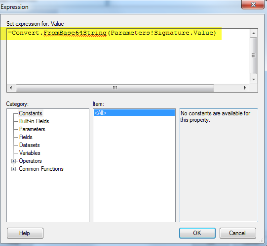 SQL Server Reporting Services (SSRS) – How to Receive an Image into