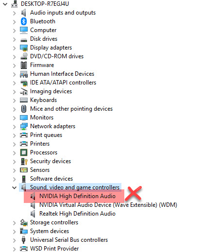 what is nvidia high definition audio in device manager